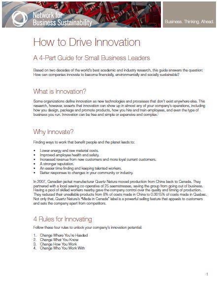Reglas ecoinnovacion 4 Reglas para la ecoinnovación en los negocios