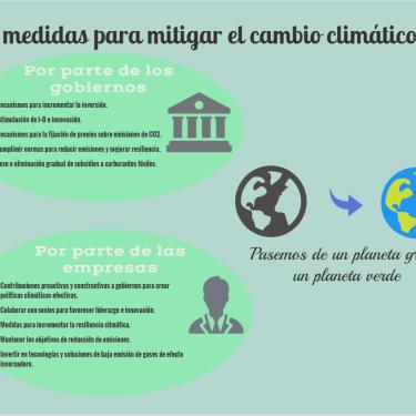 Infografia medidas cambio climatico
